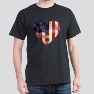 American quilted heart Dark T-Shirt