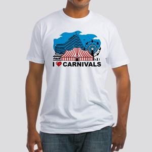 I Love Carnival Fitted T-Shirt