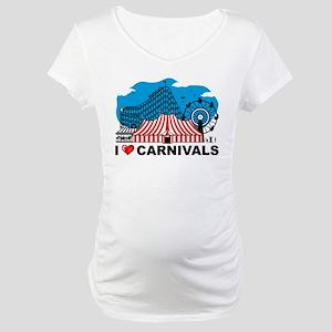 I Love Carnival Maternity T-Shirt
