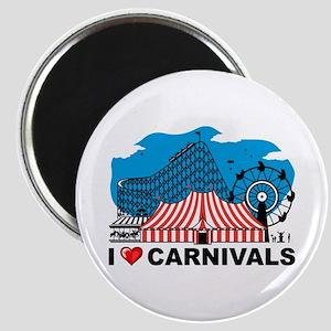 I Love Carnival Magnet