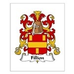 Fillion Family Crest Small Poster