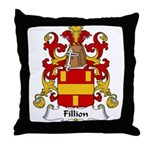 Fillion Family Crest Throw Pillow