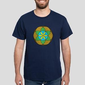 Seed of Life Earth3 Dark T-Shirt