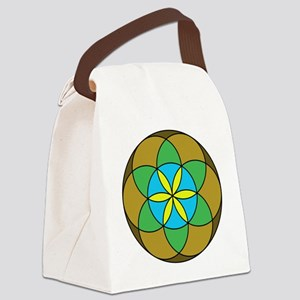 Seed of Life Earth3 Canvas Lunch Bag