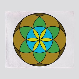 Seed of Life Earth3 Throw Blanket