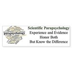 Scientific Parapsychology Bumper Sticker
