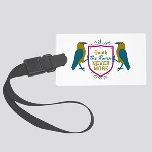 Quoth the Raven Nevermore Shield Sigil Luggage Tag