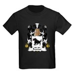 Fevrier Family Crest Kids Dark T-Shirt