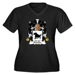 Fevrier Family Crest Women's Plus Size V-Neck Dark