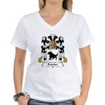 Fevrier Family Crest Women's V-Neck T-Shirt