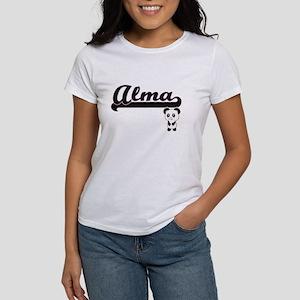 Alma Classic Retro Name Design with Panda T-Shirt