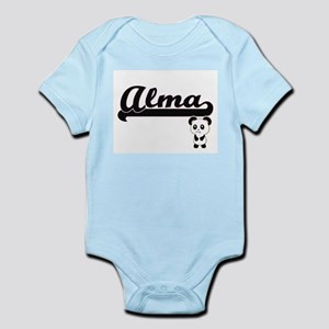 Alma Classic Retro Name Design with Pand Body Suit