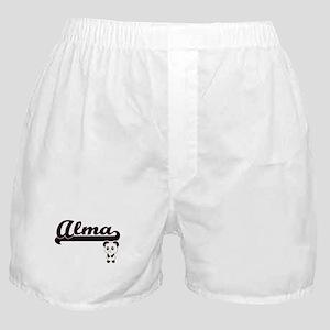 Alma Classic Retro Name Design with P Boxer Shorts