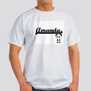 Amanda Classic Retro Name Design with Pand T-Shirt