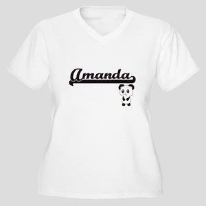 Amanda Classic Retro Name Design Plus Size T-Shirt