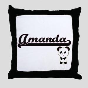 Amanda Classic Retro Name Design with Throw Pillow