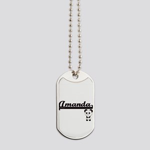 Amanda Classic Retro Name Design with Pan Dog Tags
