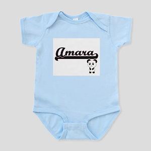 Amara Classic Retro Name Design with Pan Body Suit