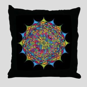 Inside the Bone of a Rainbow Throw Pillow