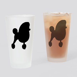 Toy Poodle Silhouette Drinking Glass