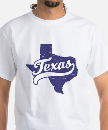 Texas White T-Shirt