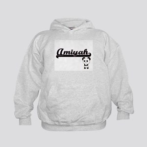 Amiyah Classic Retro Name Design with Kids Hoodie