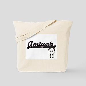 Amiyah Classic Retro Name Design with Pan Tote Bag