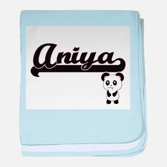 Aniya Classic Retro Name Design with baby blanket