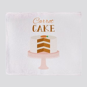 Carrot Cake Dessert Throw Blanket