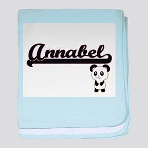 Annabel Classic Retro Name Design wit baby blanket