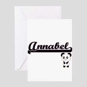 Annabel Classic Retro Name Design w Greeting Cards