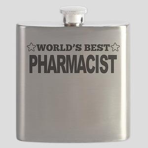 Worlds Best Pharmacist Flask