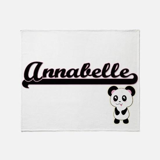 Annabelle Classic Retro Name Design Throw Blanket