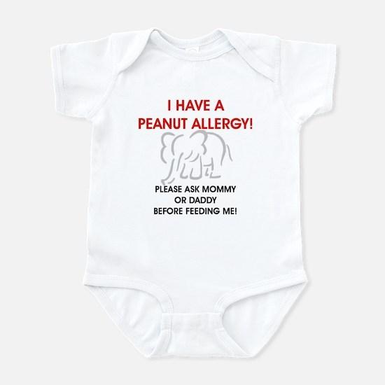 Peanut Allergy Don't Feed Me Infant Bodysuit