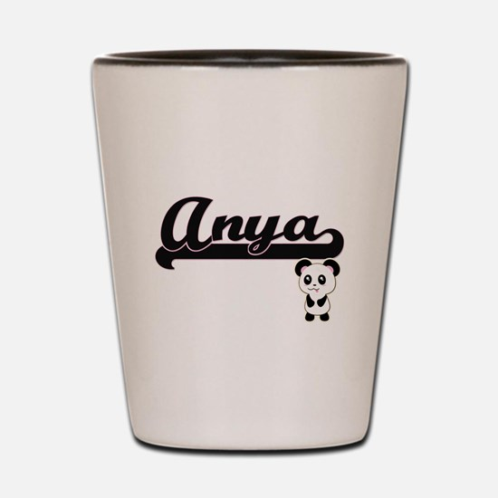 Anya Classic Retro Name Design with Pan Shot Glass