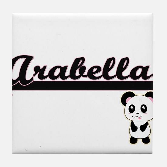 Arabella Classic Retro Name Design wi Tile Coaster