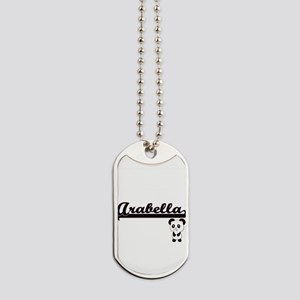 Arabella Classic Retro Name Design with P Dog Tags