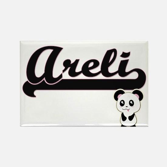 Areli Classic Retro Name Design with Panda Magnets