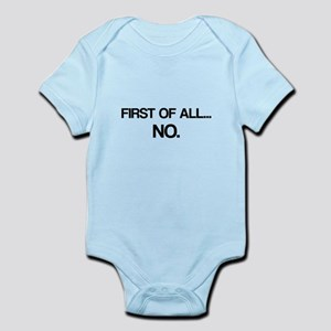 First of All No Body Suit