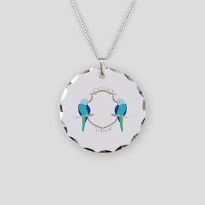 Budgie Parakeet Shield Sigil Necklace