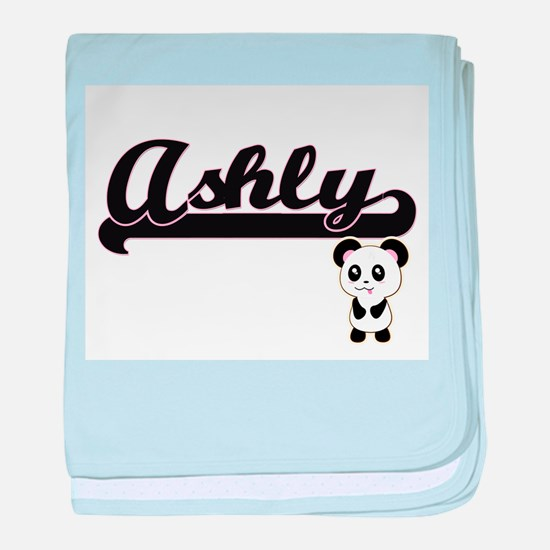 Ashly Classic Retro Name Design with baby blanket
