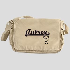 Aubrey Classic Retro Name Design wit Messenger Bag