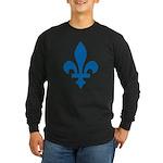 Lys Flower Long Sleeve Dark T-Shirt