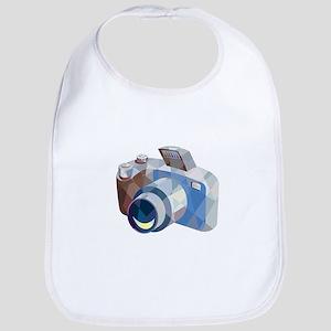Camera DSLR Low Polygon Bib