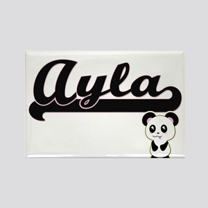 Ayla Classic Retro Name Design with Panda Magnets