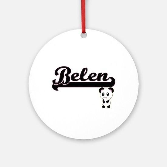 Belen Classic Retro Name Design w Ornament (Round)