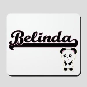 Belinda Classic Retro Name Design with P Mousepad