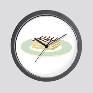 Mille Feuille Pastry Wall Clock