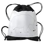 Polar Bear Walking Drawstring Bag