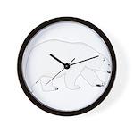 Polar Bear Walking Wall Clock